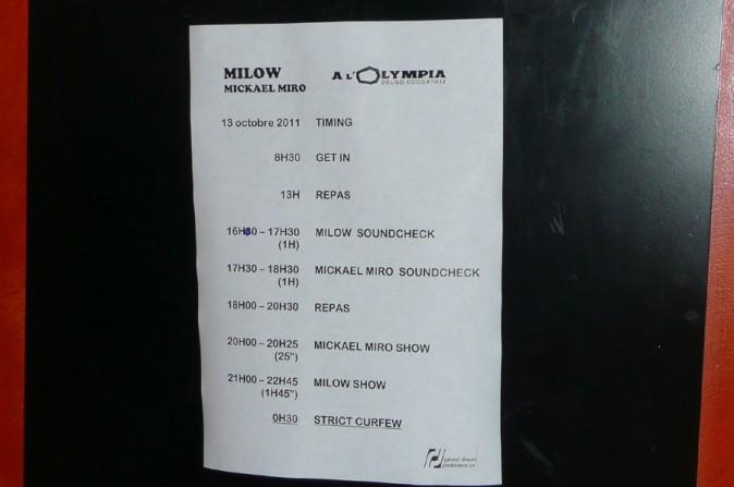 Le programme chargé de Milow et Mickaël Miro !