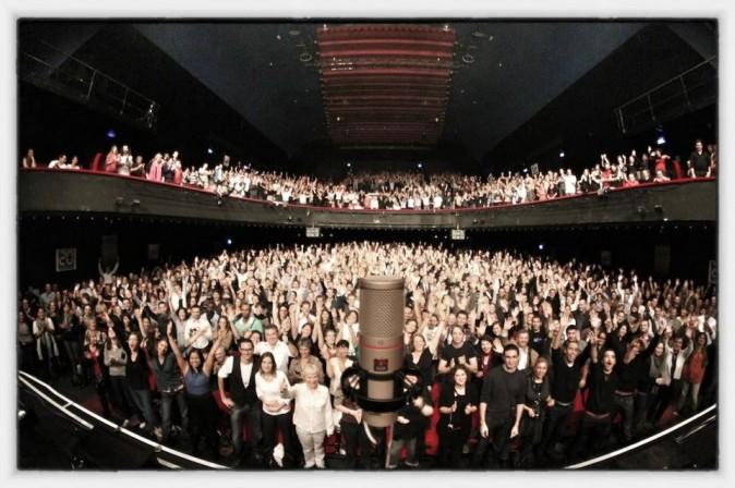 Le public vu depuis la scène !