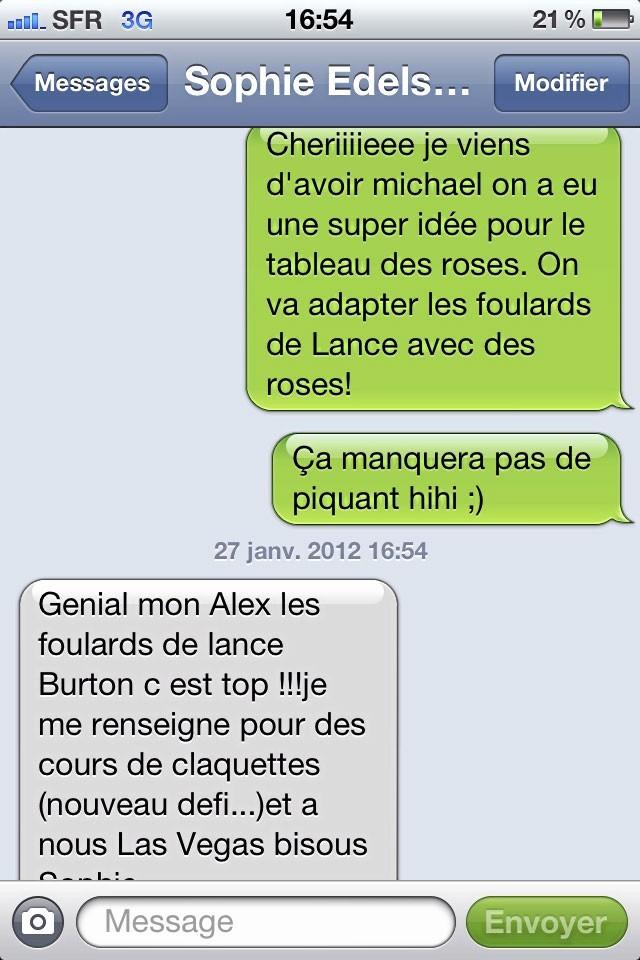 Son dernier échange par SMS