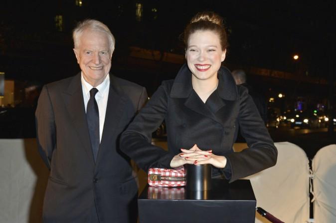 Exclu Public : Léa Seydoux et André Dussollier : Public était avec eux pour le coup d'envoi des vitrines de Noël des Galeries Lafayette !