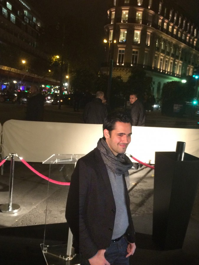 Yoann Fréget était présent pour le coup d'envoi des vitrines de Noël des Galeries Lafayette!