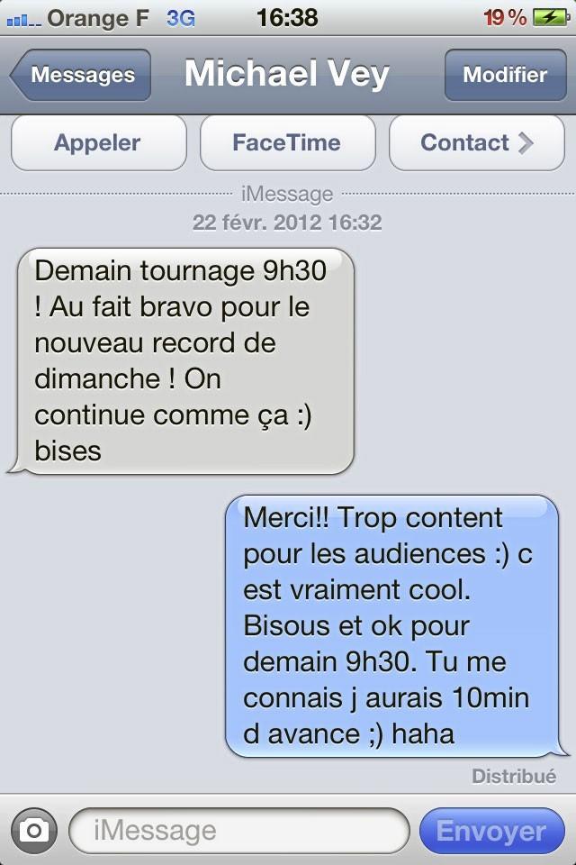 Son dernier échange SMS