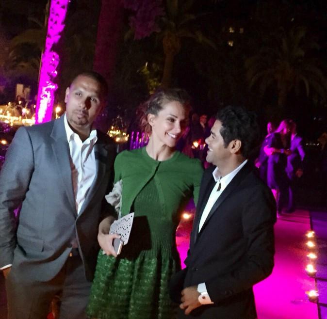 Jamel et Melissa Debbouze et Karim Debbouze le 13 juin 2015