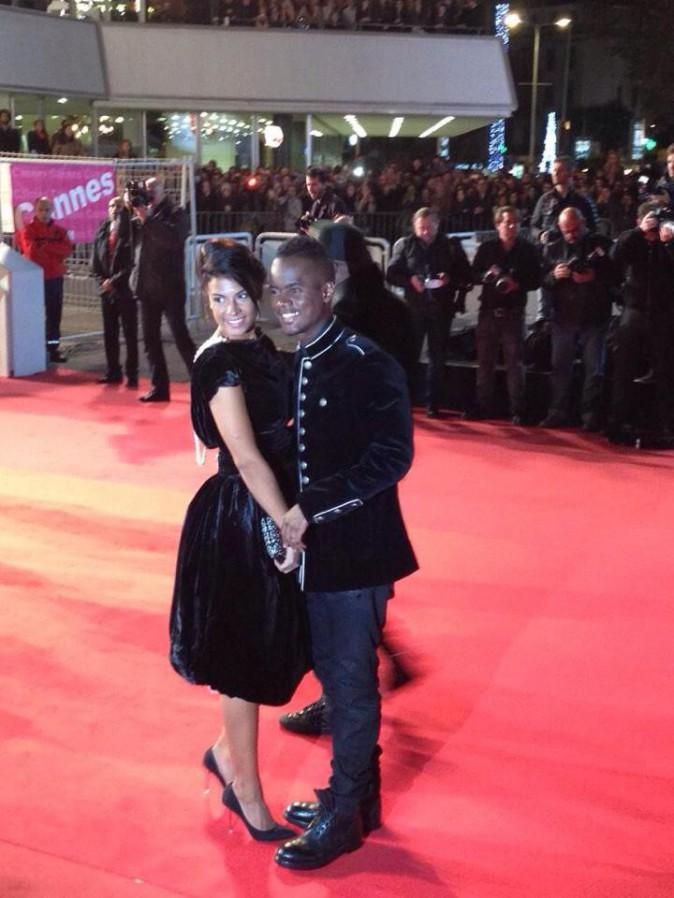 Exclu Public : Photos : NMA 2014 : Black M : premier tapis rouge officiel avec sa femme !