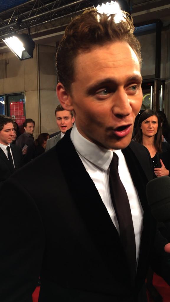 Tom Hiddleston pour l'avant-première de Thor à Paris le 23 octobre 2013