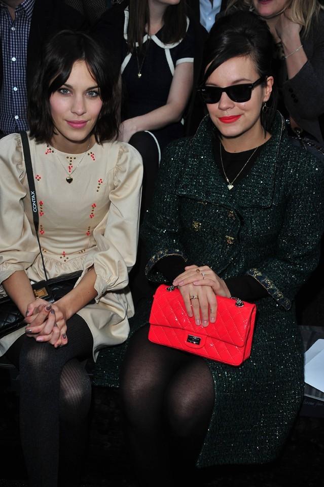 Alexa Chung et Lily Allen au défilé Chanel