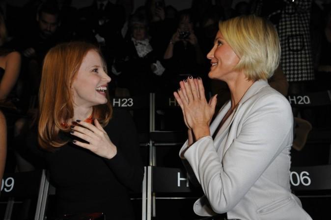 Avec sa copine, Jessica Chastain