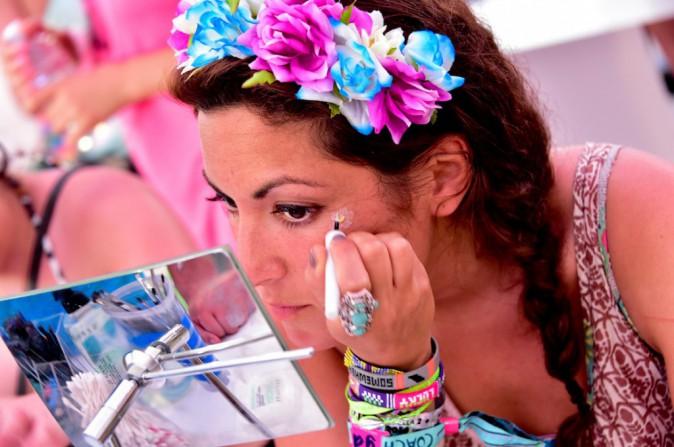 Make up time pour notre rédactrice sur le stand Sephora - Coachella JOUR 3