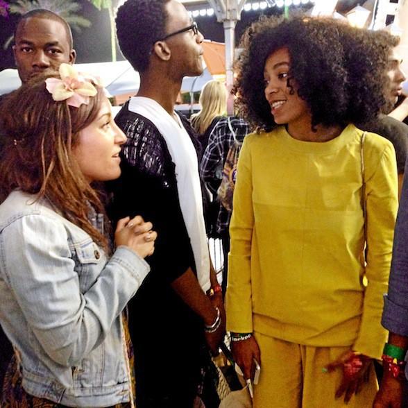 Notre rédactrice rencontre son mentor fashion, Solange Knowles - Coachella JOUR 1