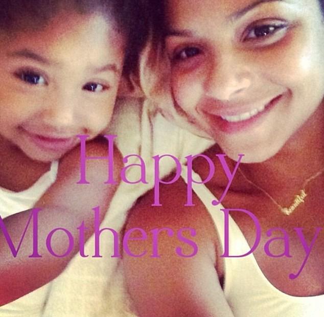Christina Milian et sa fille Violet
