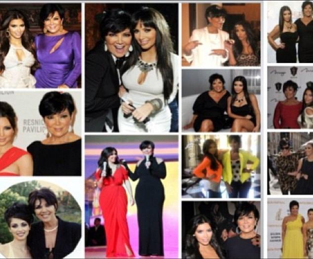 Kim Kardashian et sa mère Kris Jenner