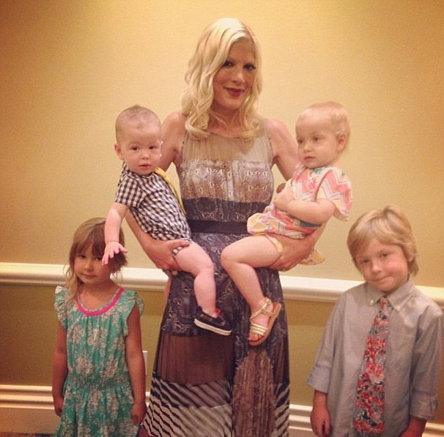 Tori Spelling et ses enfants