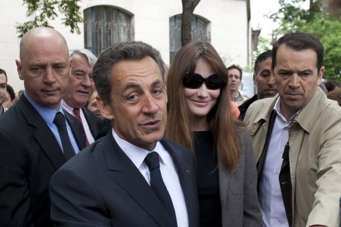 Nicolas Sarkozy et Carla Bruni le 10 juin 2012