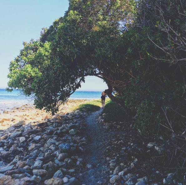 Gigi Hadid à la plage