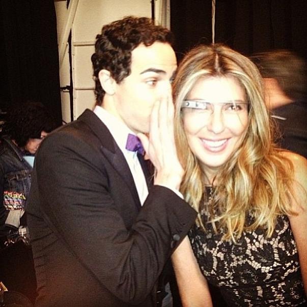 Zac Posen et Nina Garcia photographiés par des Google Glass !