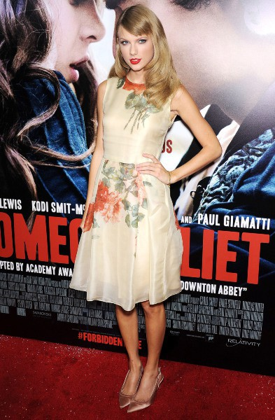 "Taylor Swift lors de la première du film 3romeo and Juliet"" à Hollywood, le 24 septembre 2013."