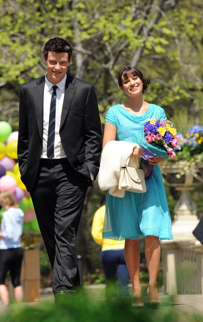 Lea Michele et Cory Monteith (Glee)