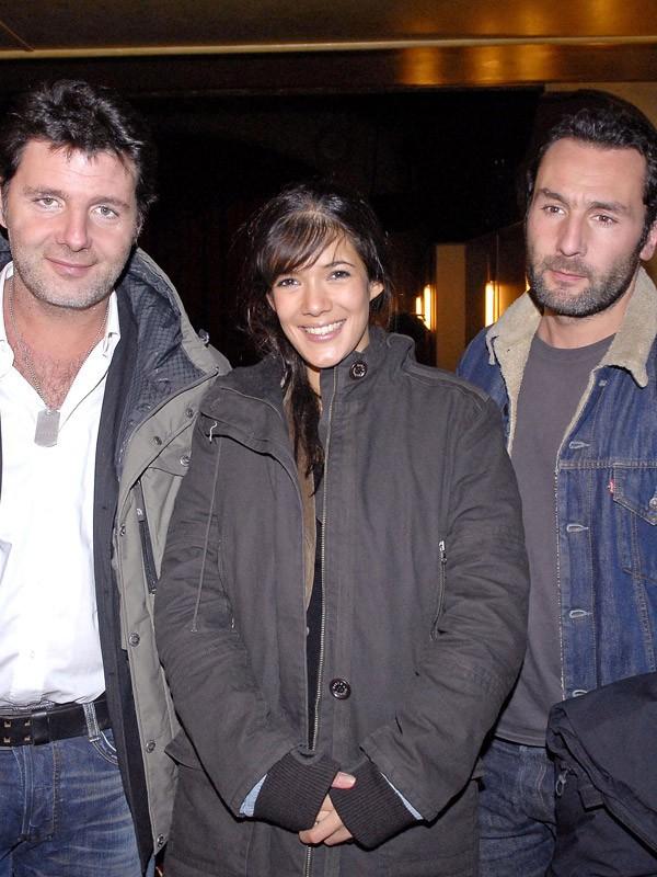Gilles et Philippe Lellouche avec Mélanie Doutey