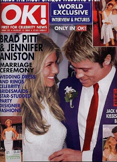 Le 29 juillet 2000, Jennifer Aniston et Brad Pitt se marient à Malibu