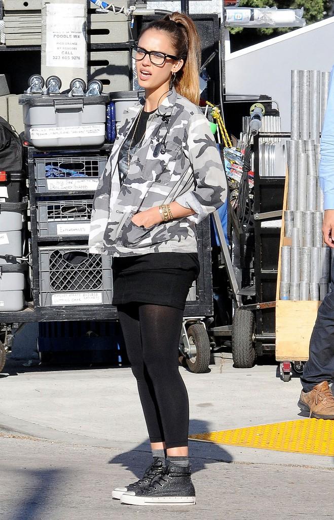 Jessica Alba en tournage