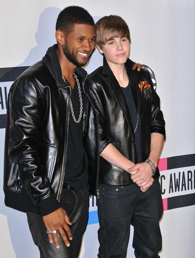 Avec son mentor Usher