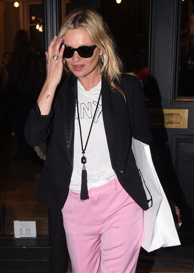 Photos : Kate Moss à Londres, le 8 juin 2016