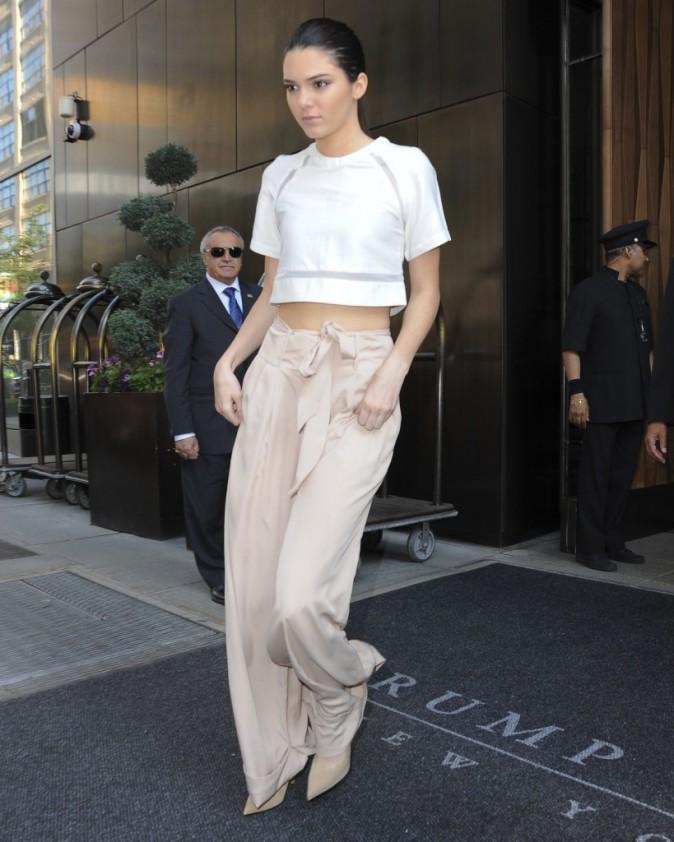 Kendall Jenner à la sortie de son hôtel de New York, le 2 juin 2014