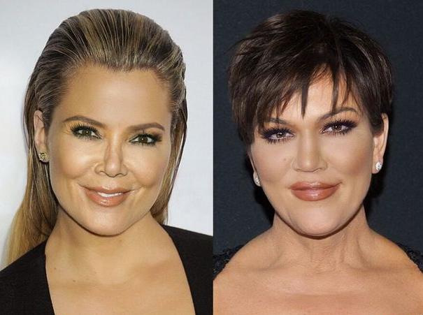 Khloe Kardashian a échangé son visage avec celui de Kris Jenner