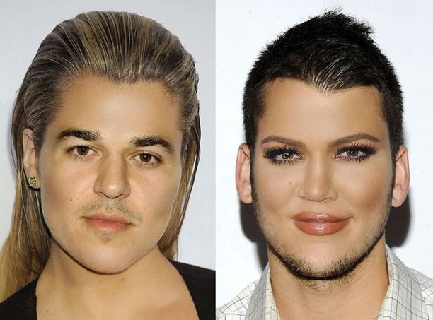 Khloe Kardashian a échangé son visage avec celui de Rob Kardashian