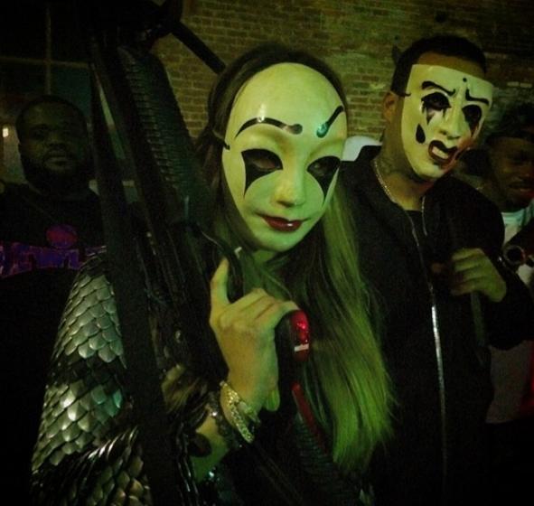 Photos : Khloe Kardashian et French Montana : façon Beyoncé et Jay-Z, le couple s'affiche masqué et armé !