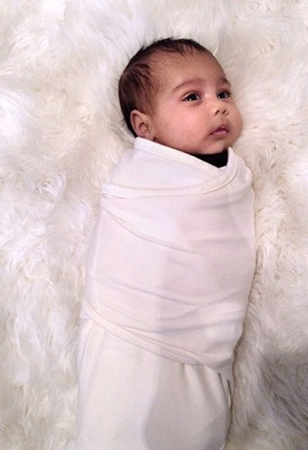 North West, Kim Kardashian, Kanye West, photo, bébé