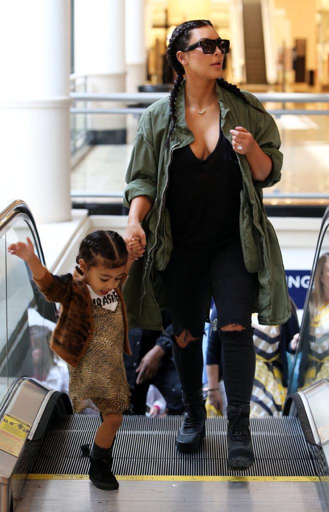 Kim Kardashian et North West sont adorables