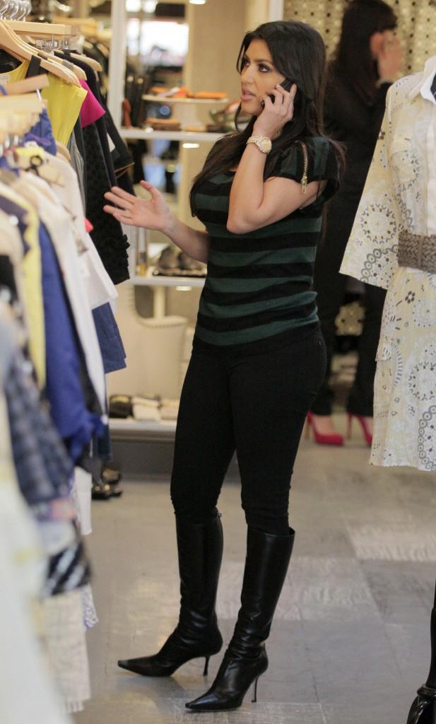 Kim Kardashian en janvier 2008.