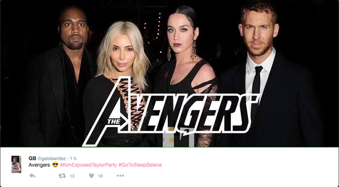 La troupe des Avengers anti-Taylor Swift