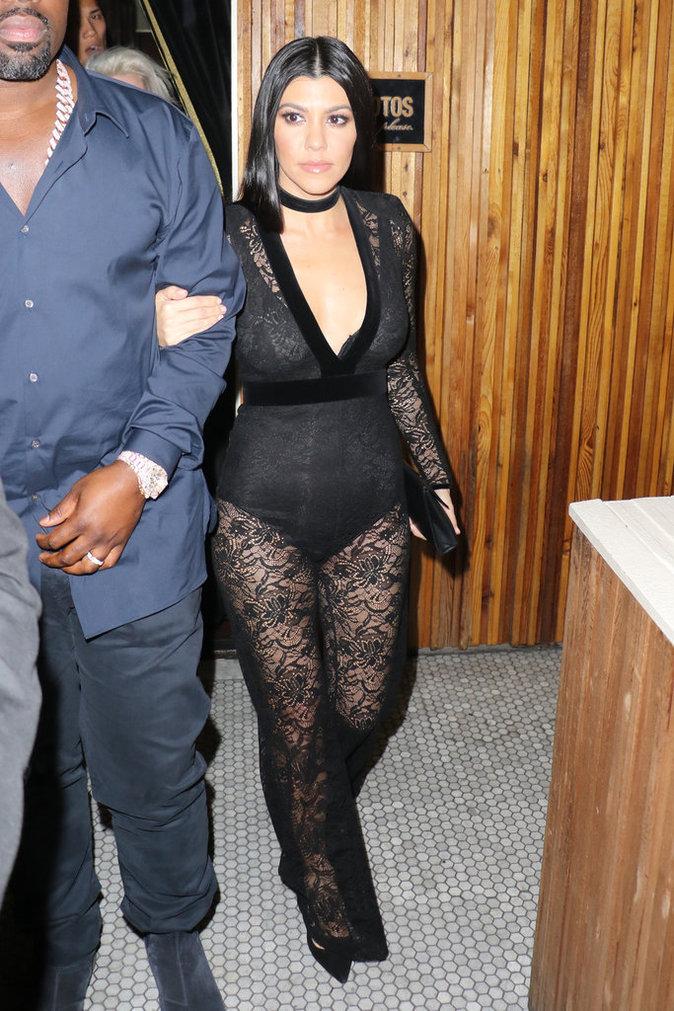 Kourtney Kardashian, sexy à la soirée privée de Justin Bieber !
