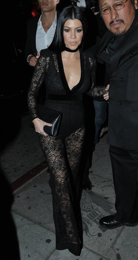 Kourtney Kardashian, sublime pour se rendre à la soirée de Justin Bieber