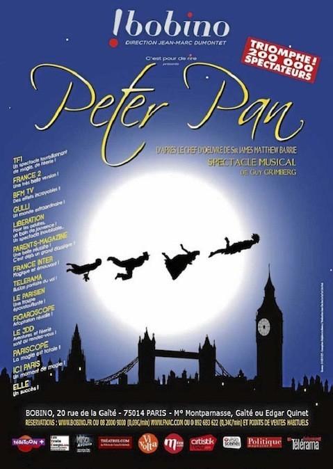 Peter Pan, à Bobino, 20, rue de la Gaîté, Paris 14e. À partir de 25 € sur bobino.fr