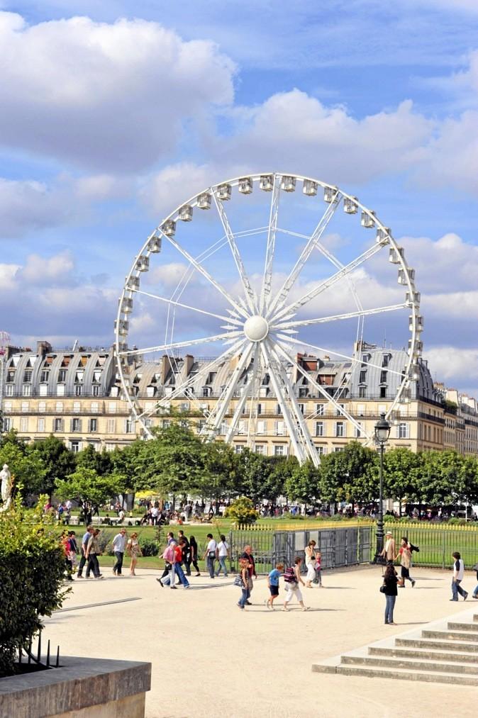 Fête foraine du jardin des Tuileries. Aujourd'hui et demain