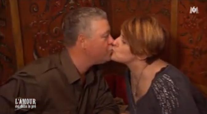 Eric et Florence ne sont pas avares de bisous !