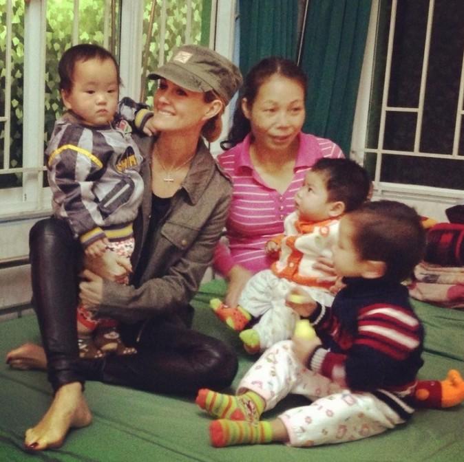 Laeticia Hallyday au Vietnam en janvier 2013