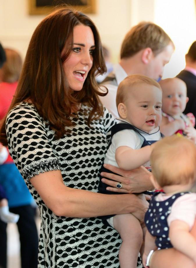 Le prince George et sa maman en Nouvelle-Zélande
