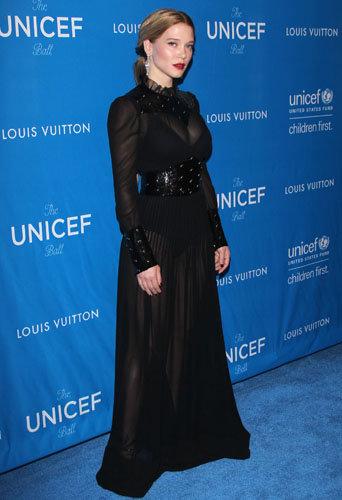 Léa Seydoux et Nicolas Ghesquière : ambassadeurs chics pour Vuitton, au gala de l'UNICEF