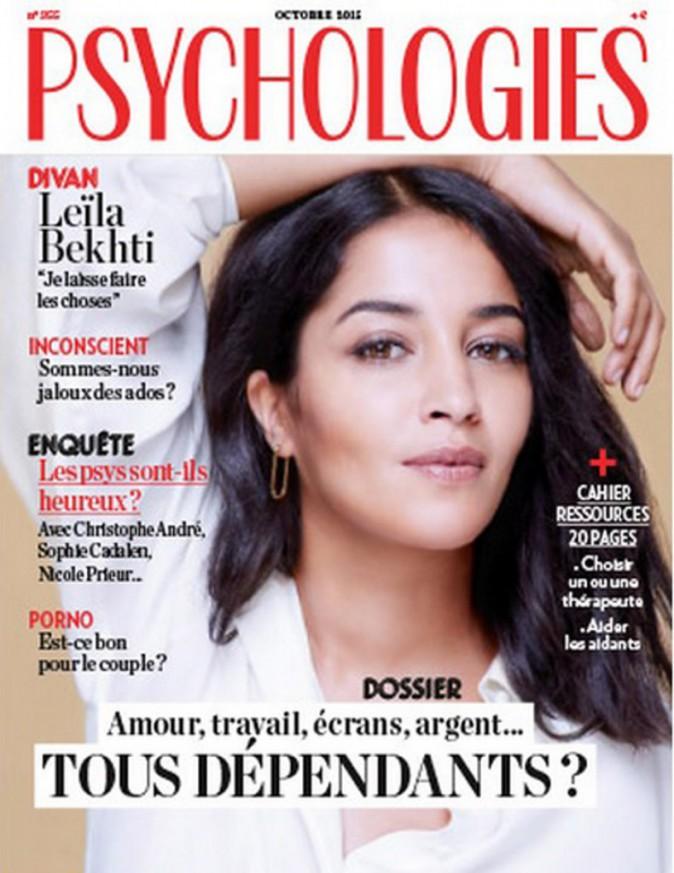 Leïla Bekhti en Une de Psychologies (octobre 2015)