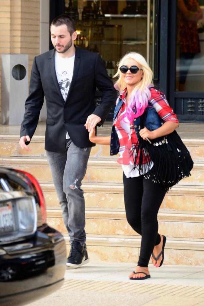 Christina Aguilera : rose et noir, la combinaison gagnante !