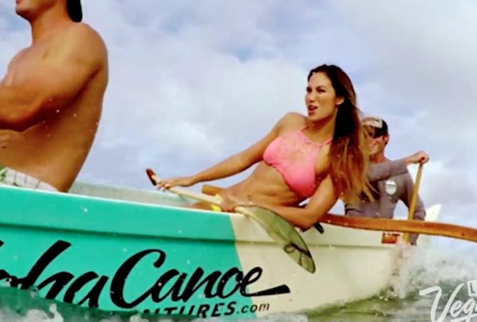 Miss Hawaii, dans son clip de présentation