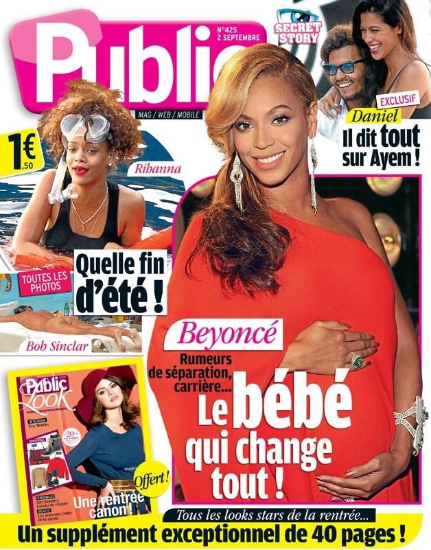 Magazine Public : Beyoncé enceinte en couv !