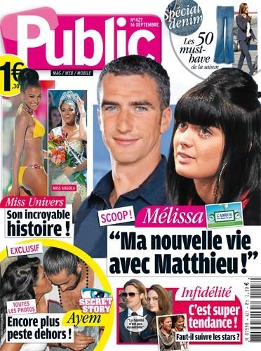 Magazine Public : Matthieu et Mélissa de L'Amour est dans le pré en couv ! En grand et petit format !