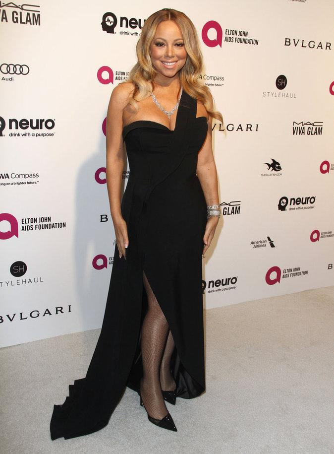 Mariah Carey, sexy à souhait à la soirée Elton John AIDS Foundation