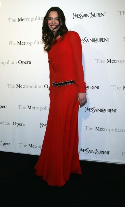 Rebecca Hall lors de la première de l'opéra de Rossini, Le Comte Ory, au Metropolitan Opera House à New York, le 24 mars 2011.