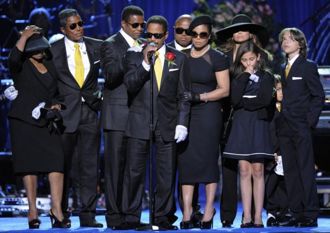 La cérémonie hommage en présence de ses proches, au Staples Center, Los Angeles.